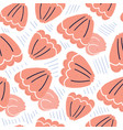 cute hand drawn sea shell seamless pattern vector image