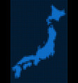 dotted pixel japan map vector image vector image