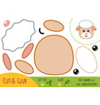 education paper game for children sheep vector image vector image