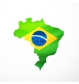 flag maps of Brazil vector image vector image