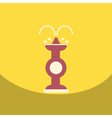 Flat icon design collection chocolate fountain vector image