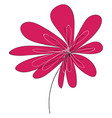 flower hand drawn design on white background vector image vector image