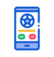 football match on phone icon outline vector image vector image