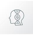 genetics icon line symbol premium quality vector image