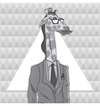 giraffe animal hipster style triangule background vector image vector image