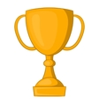 Golden trophy cup icon cartoon style vector image vector image