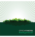 green cityscape vector image vector image