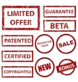Grunge rubber stamps set vector image