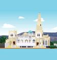 hadramaut mosque in yemen vector image vector image