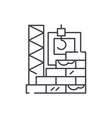 high rise construction line icon concept high vector image vector image