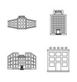 hotel services and travel vector image