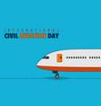 international civil aviation day vector image vector image