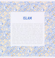 islamic concept with thin line icons vector image vector image