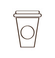isolated plastic cup icon vector image vector image
