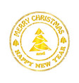 isolated stamp christmas and happy new year vector image vector image