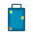 isolated travel suitcase with stamps vector image