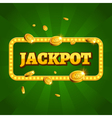 Jackpot casino label background sign Casino vector image
