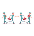 male nurse walking vector image vector image