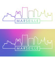 marseille skyline colorful linear style vector image vector image