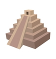 mayan pyramid mexico icon cartoon style vector image