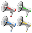 Megaphone set vector image
