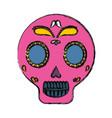 mexican skull icon vector image vector image