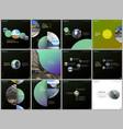 minimal brochure templates colorful circles round vector image