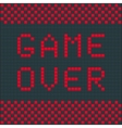 Old game over vector image vector image