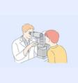 ophthalmology medicine examination concept vector image