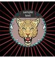 Portrait of a leopard vector image vector image