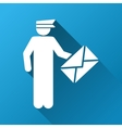 Postman Gradient Square Icon vector image