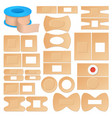 realistic adhesive plasters set vector image