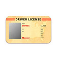 realistic driver license with place for photo on vector image vector image