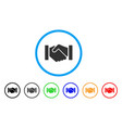 relation handshake rounded icon vector image vector image