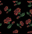 rose pattern embroidery vector image vector image