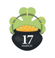 saint patrick day irish holiday gold coins in vector image vector image