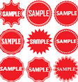 Sample signs set Sample sticker set vector image vector image