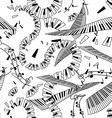 seamless pattern keyboards vector image