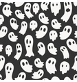 seamless pattern with ghosts vector image vector image