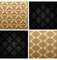 seamless set four vintage backgrounds ornament wal vector image vector image