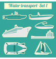 Set of water transport icon for creating your own vector image vector image