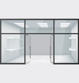shop empty interior front store 3d realistic vector image vector image