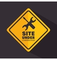 sign site under construction tools vector image vector image