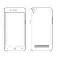 Smartphone outline contour vector image