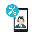 smartphone technical support vector image vector image