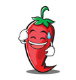 sweat smile red chili character cartoon vector image