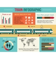 Train and railway infographic vector image