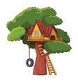 tree house cartoon vector image