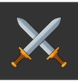 Two Crossed Swords Icon vector image vector image