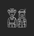wild west chalk white icon on black background vector image vector image